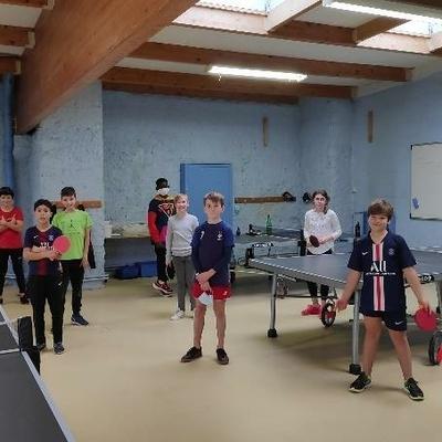 Tournoi de tennis de table - Élèves de 6ème