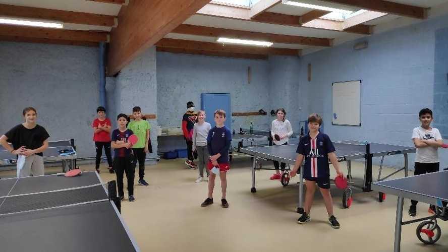 Tournoi de tennis de table - Élèves de 6ème 0